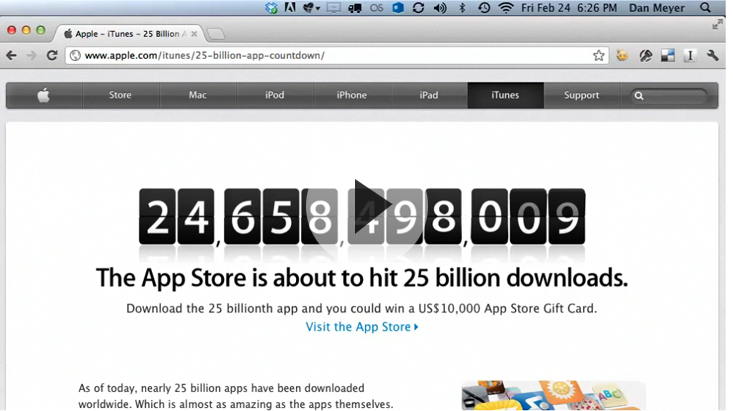 Apple's 25 billionth app download came from china and was 'where's.